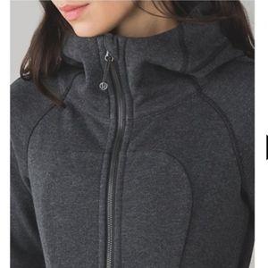 LULULEMON dark heathered grey scuba hoodie